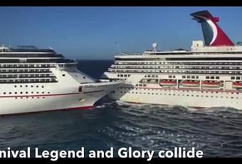 Dos cruceros Carnival Cruise colisionan en Cozumel,México ...