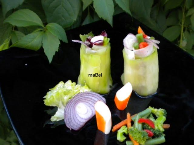 Rollos de pepino light (falso sushi)