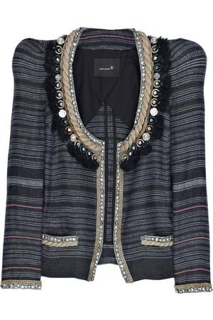 Isabel Marant Flana Jeweled Linen Jacket Profile Photo