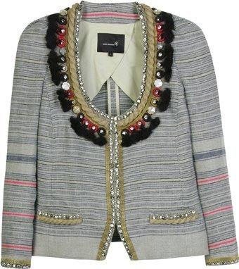 Isabel Marant Flana Jeweled Linen Jacket Photograph