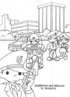 Dibujos para colorear de educaci n vial paperblog for Grado superior de jardin de infancia