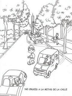 Dibujos para colorear de educaci n vial paperblog for A que zona escolar pertenece mi escuela