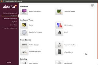 Ubuntu Control Center en Natty