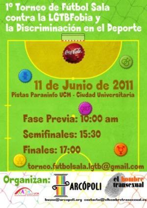 Mañana comienza el I Torneo de Fútbol contra la Discriminación de LGTB en el Deporte