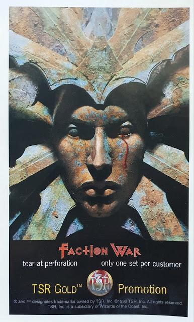 Faction War Promotional Stickers (AD&D 2ª ed, Planescape, 1998)