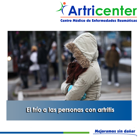Artricenter: El frío a las personas con artritis
