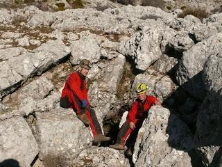 Exploraciones y limpieza de cavidades en la Sierra de Segura