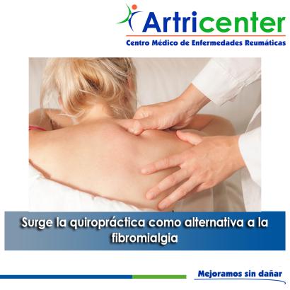 Artricenter: Surge la quiropráctica como alternativa a la fibromialgia