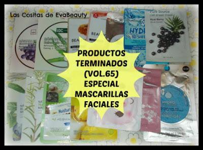 productos terminados especial mascarillas faciales de tissú