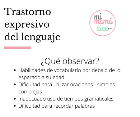 Lenguaje: Trastorno expresivo de lenguaje