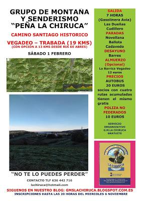 RUTA HISTORICA CAMINO SANTIAGO  VEGADEO - TRABADA