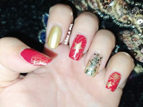Diseño de uñas para Fin de Año o Navidad