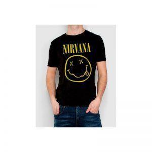 camiseta nirvana hombre