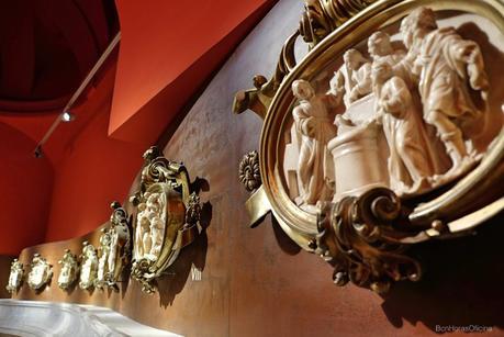Colección de IX placas grabadas que representan escenas de la vida de San Ignacio.