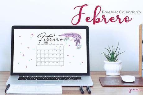 Freebie: Calendario Febrero 2020