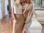 faldas vestidos satinados: tendencias 2020 encantan