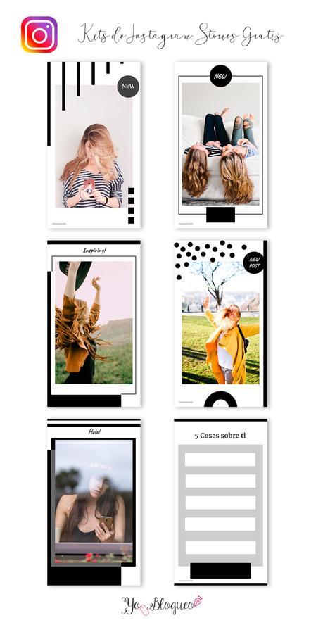 Set de plantillas gratuitas para las stories de Instagram