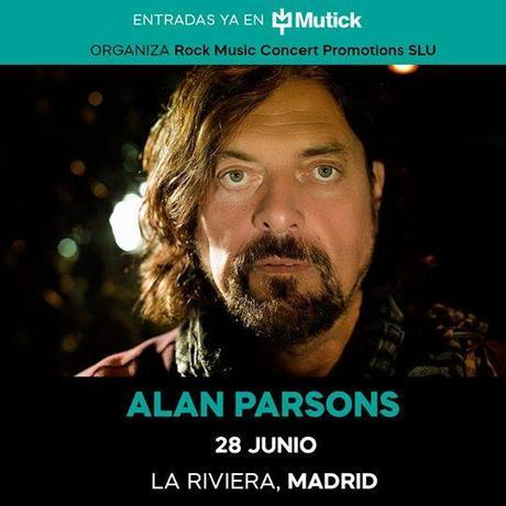 Conciertos de Alan Parsons en Sevilla, Marbella, Madrid y Barcelona