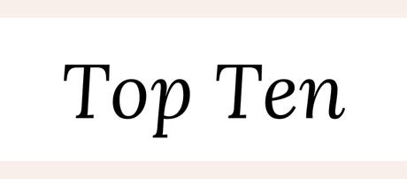 Top Ten: libros que espero leer este año