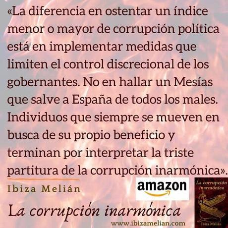 Frase sobre la corrupción, de la escritora Ibiza Melián