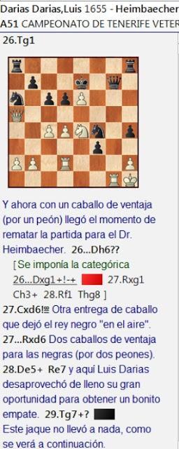 Dos partidas decisivas en la 5ª ronda del Campeonato Veterano de Tenerife 2020