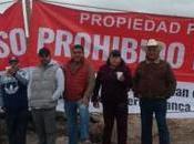 Comuneros fraccionamientos bloquearon acceso Cañada Lobo