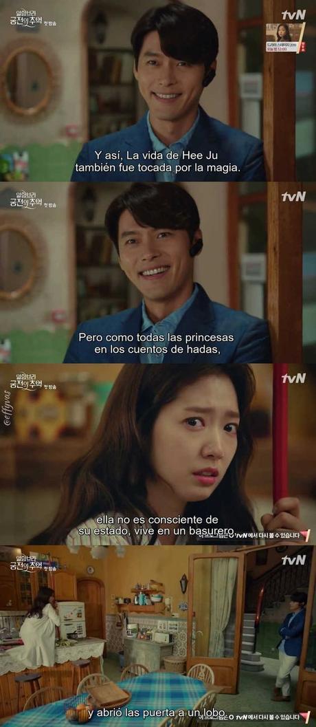 Y así te das cuenta de que la pusiste con la que te dará los 100billones de won. Interesante manera de empezar la historia de amor.