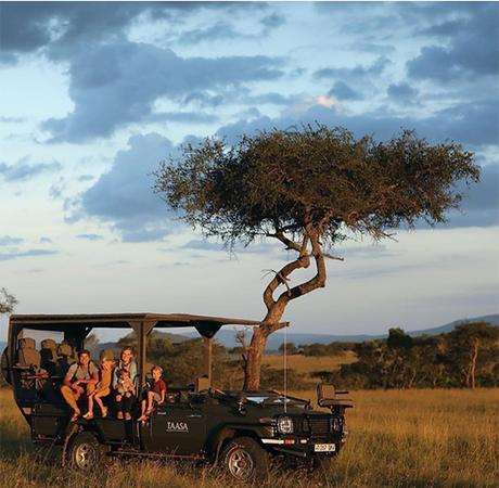 viajar con niños a un safari en africa
