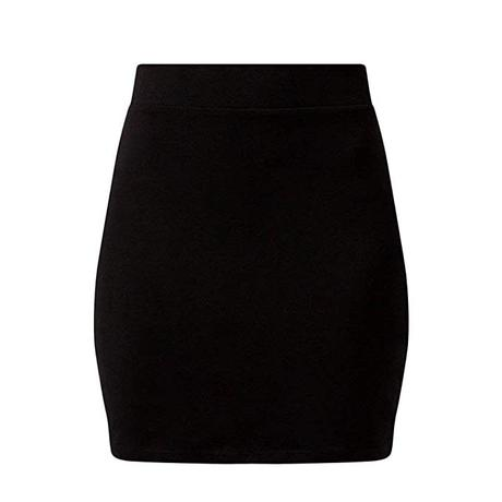 Falda Negra Corta Ajustada