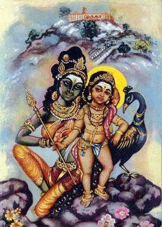 Goddess Parvati presented Murugan the powerful Vel