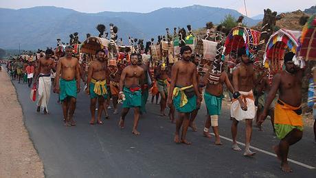 Festival Thai Pusam para Pada yatra a Palani