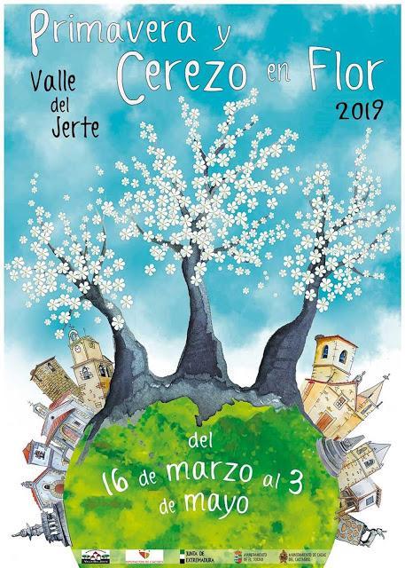 Cartel Oficial 2019 Primavera y Cerezo en Flor, Valle del Jerte