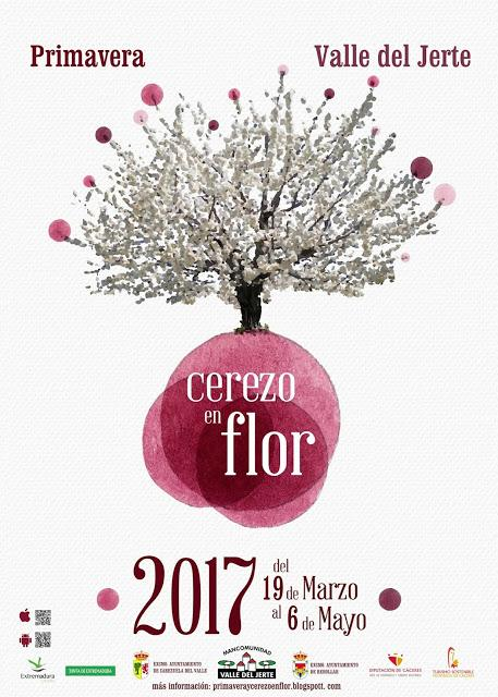 Cartel Oficial 2017 Primavera y Cerezo en Flor, Valle del Jerte