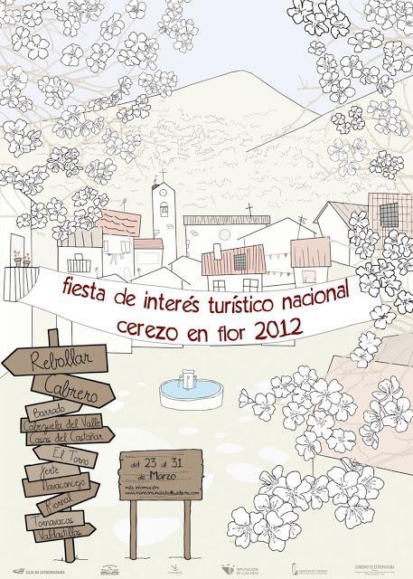 Cartel Oficial 2012 Cerezo en Flor, Valle del Jerte