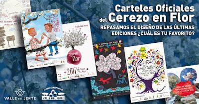 La Primavera y Cerezo en Flor en el Valle del Jerte busca su cartel oficial. Recordamos cómo han sido en las ultimas ediciones.