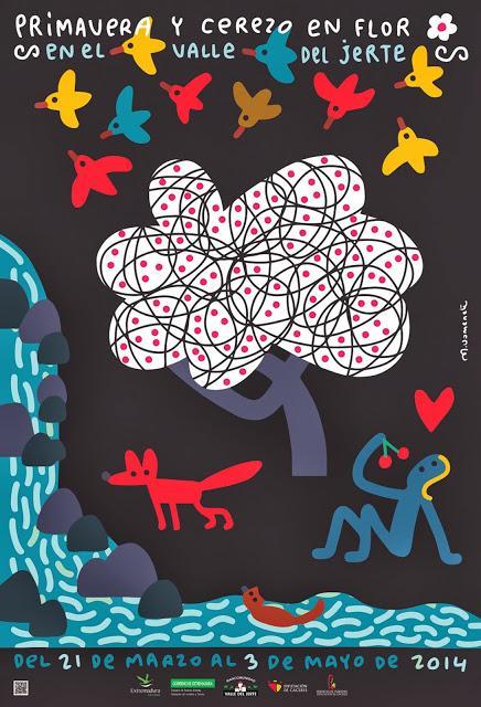 Cartel Oficial 2014 Primavera y Cerezo en Flor, Valle del Jerte