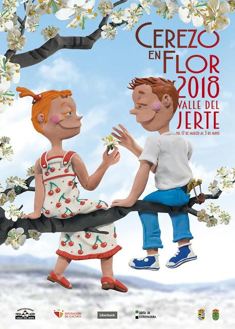 Cartel Oficial 2018 Primavera y Cerezo en Flor, Valle del Jerte