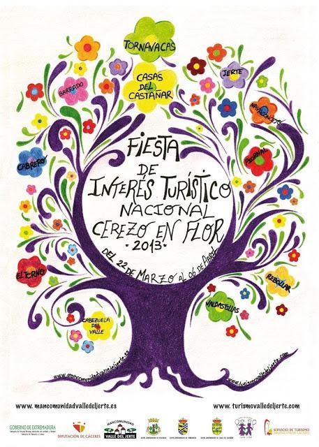Cartel Oficial 2013 Cerezo en Flor, Valle del Jerte
