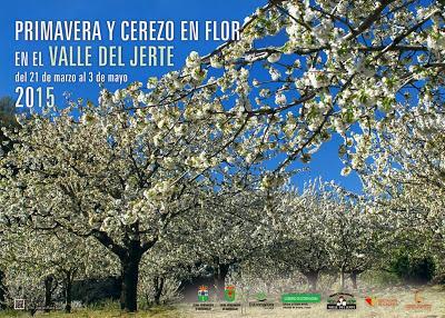 Cartel Oficial 2015 Primavera y Cerezo en Flor, Valle del Jerte