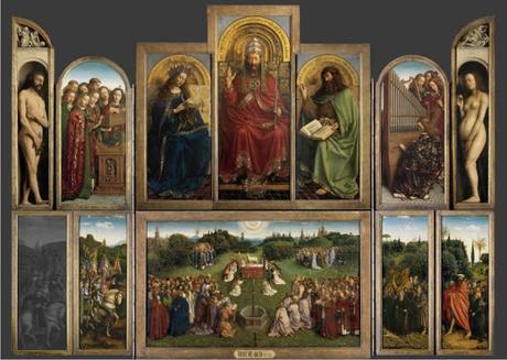 Una visión anacrónica del retablo de Gante ubica el sentido material de otro místico.