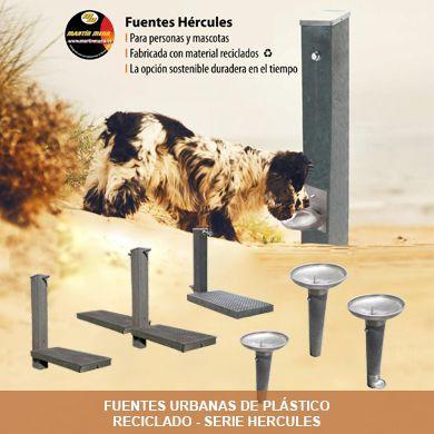 Fuentes Hércules de plástico reciclado 100% Martín Mena, la alternativa sostenible