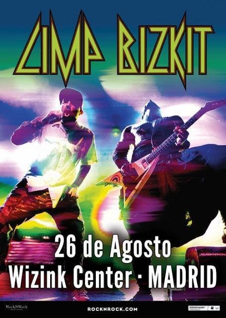 Concierto de Limp Bizkit el 26 de agosto en el WiZink Center de Madrid