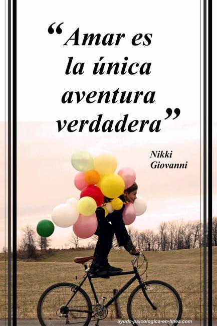 frase amar es la única aventura verdadera