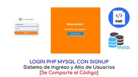 Login PHP MySQL con Signup Se comparte el Código