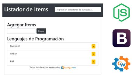Cómo hacer un Listador de Ítems en Javascript