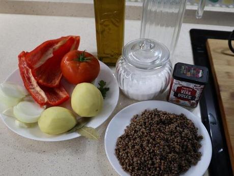 Ingredientes necesarios para hacer las lentejas con verduras en Mycook