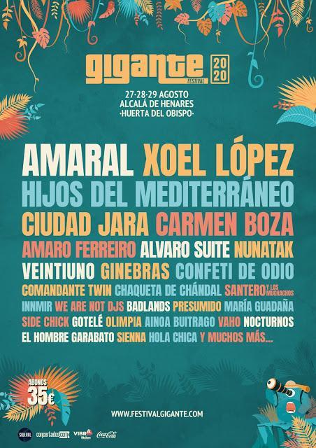 El Festival Gigante 2020 suma a Xoel López, Ciudad Jara, Carmen Boza, Nunatak, Amaro Ferreiro...