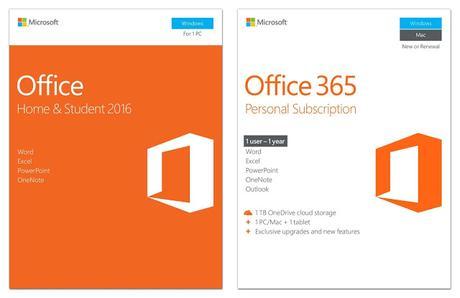 Cual es la diferencia entre Office 365 y Office 2016-2019