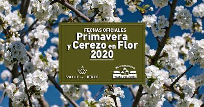 Fechas oficiales Primavera y Cerezo en Flor 2020. Valle del Jerte