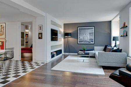 Un piso de estilo moderno paperblog for Decoracion piso laminado gris